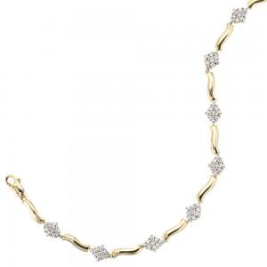 Armband 585/-Gold mit Brillanten 0,50ct.